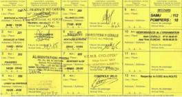 Carte de Route (verso) - BRM 600 Montigny - 2014