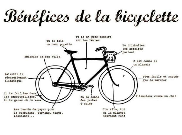 Le Plaisir du vélo est égal à ses bénéfices !